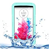 For cellphone Cases, IPX8 Waterproof Dustproof Shockproof Protective Case with Lanyard for LG G3 ( Color : Green )