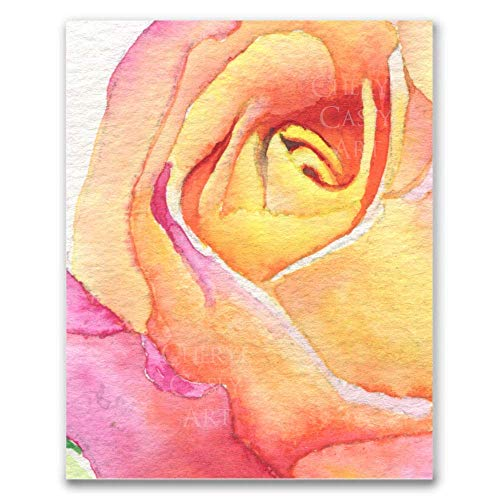 Abstract Rose Watercolor Art Print by Cheryl Casey ()