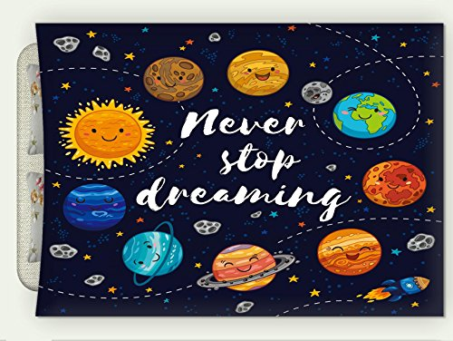Minicoso Flannel Throw Blanket Quotes Decor Cute Outer Space Planets And Star Cluster Solar System Moon And Comets Sun Cosmos Autumn Winter Warm Double Sides Print Blanketry, 87''W x 59''H by Minicoso