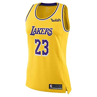 promo code 39571 8e4ac Majestic Athletic Lebron James #23 Women's Los Angeles Lakers Swingman  Jersey Yellow