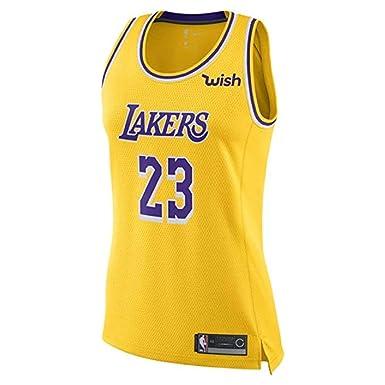 promo code 1a2ea 853f9 Majestic Athletic Lebron James #23 Women's Los Angeles Lakers Swingman  Jersey Yellow