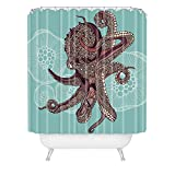 Deny Designs Valentina Ramos Octopus Bloom Shower Curtain Extra Long, 69 x 90
