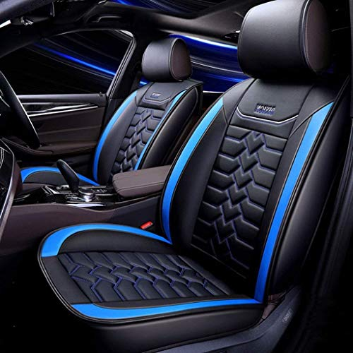 GZTYLQQ Car Seat Covers Set Leather, Universal 5 Seats Seat Cushions for the front seats and rear seat Seats (Color : Blue): Amazon.co.uk: Sports & Outdoors