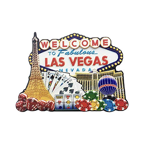 (3D Las Vegas USA Refrigerator Fridge Magnet Tourist Souvenirs Handmade Resin Craft Magnetic Stickers Home Kitchen Decoration Travel Gift)