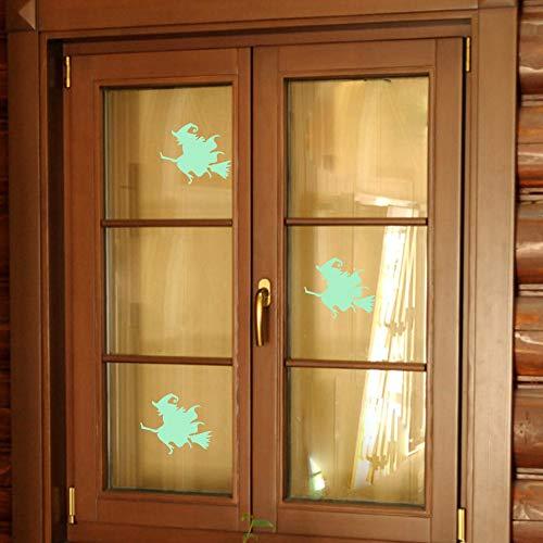 Wall Sticker Home Furnishing Decorative Light-Emitting Halloween Witch Wallpaper Children Room Ceiling Decor]()