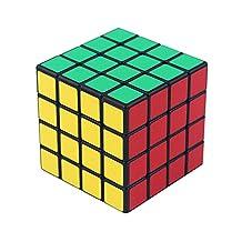 Ting-w Shengshou sticker 4x4 magic cube puzzle ,Speed cubing eduction toys black 6.0x6.0x6.0cm