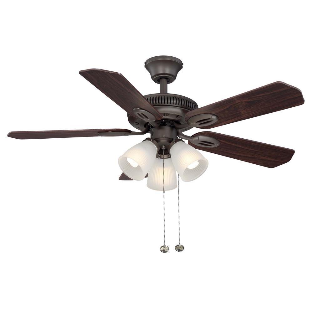 Hampton Bay AM212-ORB Glendale 42 in. Indoor Bronze Ceiling Fan with Light Kit
