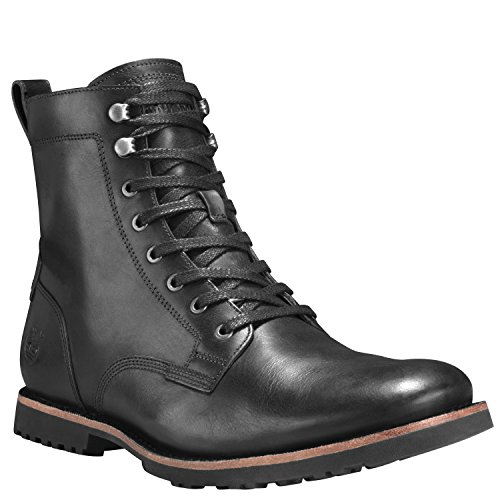 Timberland Kendrick Side Zip Boot - Men's Black Full Grain, (Leather Side Zip Fashion Boots)