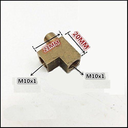 Pipe /& Metric Fitting Tee 1//8 NPT Male to M10 M10X1 Female Gauge Meter