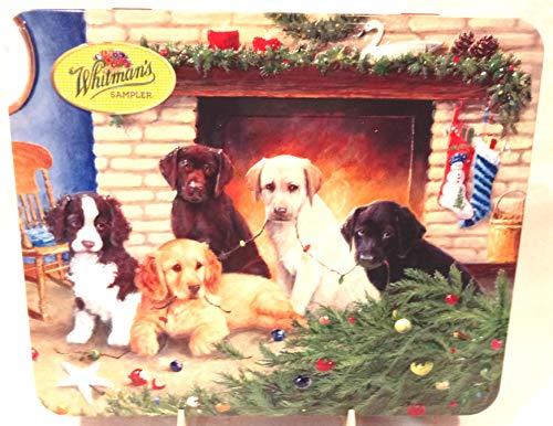 Collectible Whitman's Sampler Candy Tin, Dog Themed Candy Tin, Whitman's Christmas Dogs Tin, Tin Only ()