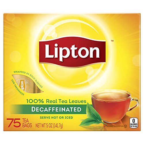 Lipton Black Tea Bags, Decaffeinated, 75 pk, .07 oz