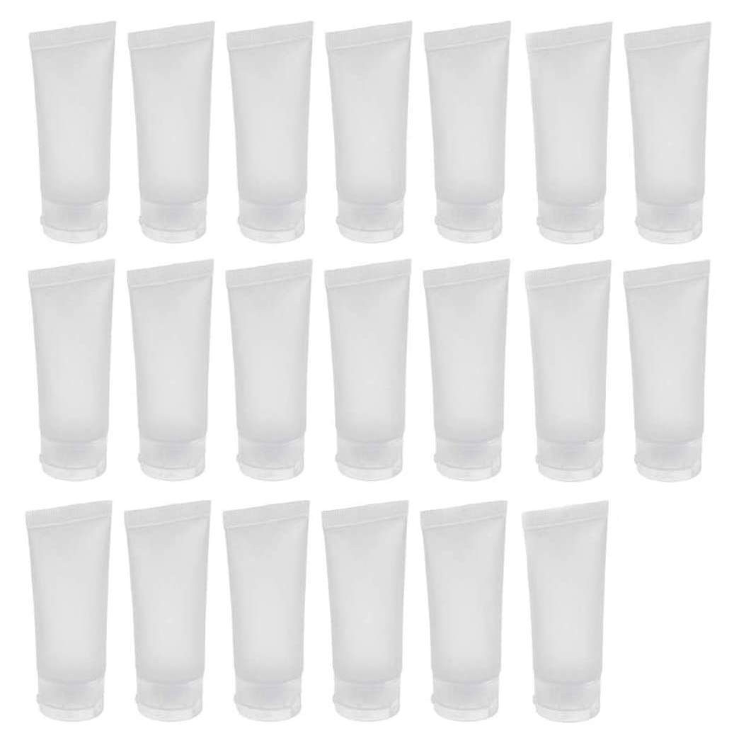 20PCS Emply Refillable Plastic Cosmetic Soft Tube Vial Bottles with Flip Cover Makeup Travel Sample Packing Storage Holder Container for Toothpaste Shampoo Facial Cleanser Body Lotion (20ml/0.7oz)