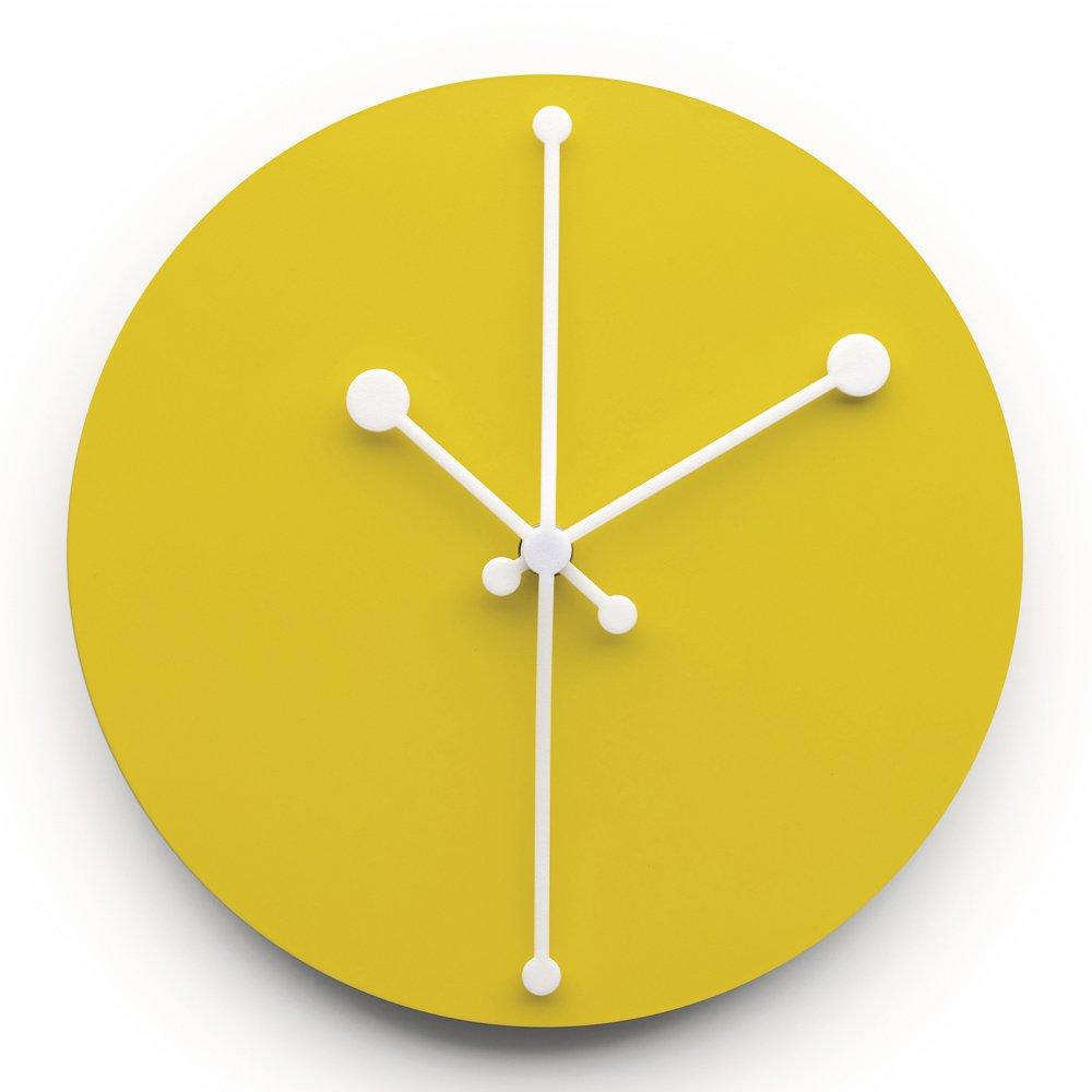 【正規輸入品】 ALESSI アレッシィ Dotty Clock アナログ ウォールクロック/イエロー ABI11 Y B01DWFBR4M イエロー イエロー