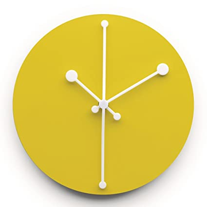 Alessi ABI11 Y Dotty Clock Orologio da Parete in Acciaio Colorato ...