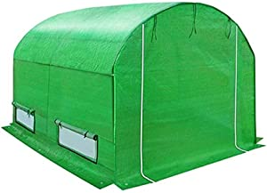 LIXHZJ Plant Greenhouse Gardening Greenhouse Vegetable Garden Keep Warm PE Grid Walk-in Arch Design Zipper Window Waterproof Anti-UV (Color : Green, Size : 300X200X175CM) Product No.:WW-145