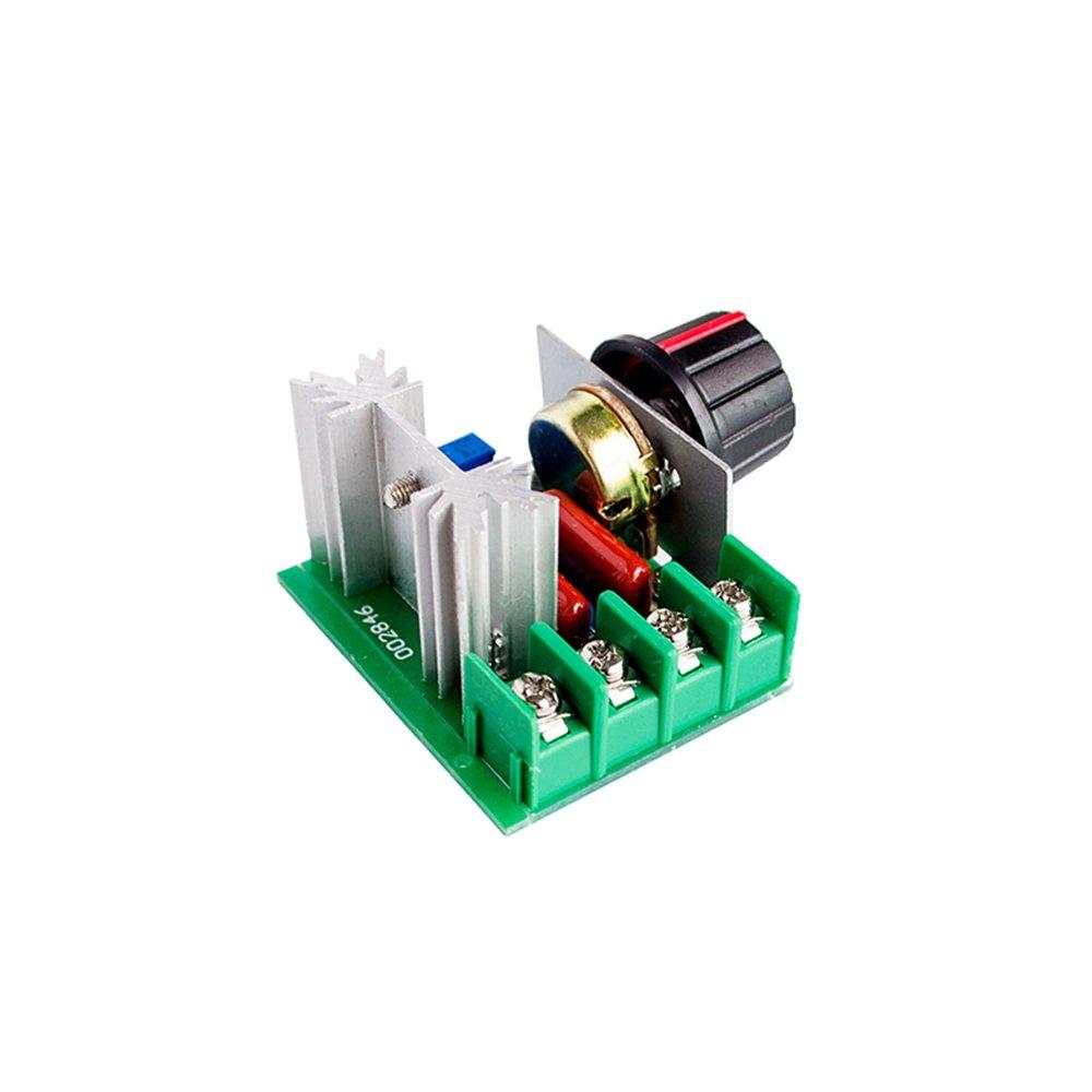 10 UNIDS/Lote Elegante Electrónica 220 V 2000 W Speed Controller Regulador de Voltaje SCR Dimming Reguladores de Termostato: Amazon.es: Electrónica