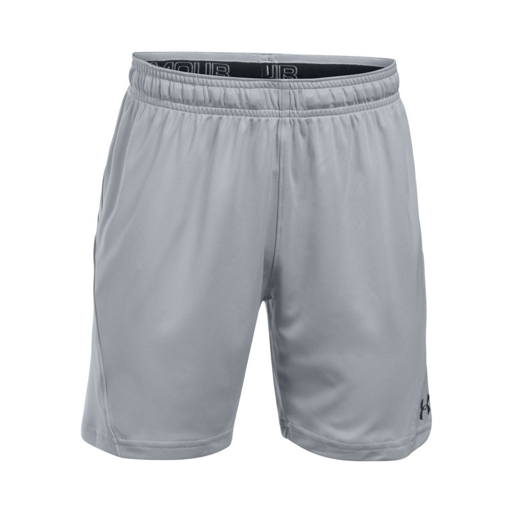 Under Armour Kids' Challenger Knit Shorts,Overcast Gray/Black, Youth X-Small