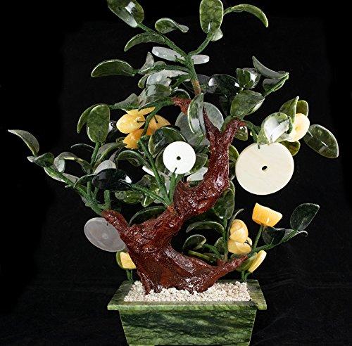 Vintage Chinese Carved Jade & Semi Precious Stone Shohin Bonsai Tree # 104 by Calibonsai (Image #9)