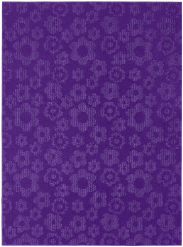 Garland Rug Flowers Area Rug, 7-Feet 6-Inch by 9-Feet 6-Inch, Purple (Dropship Flowers)