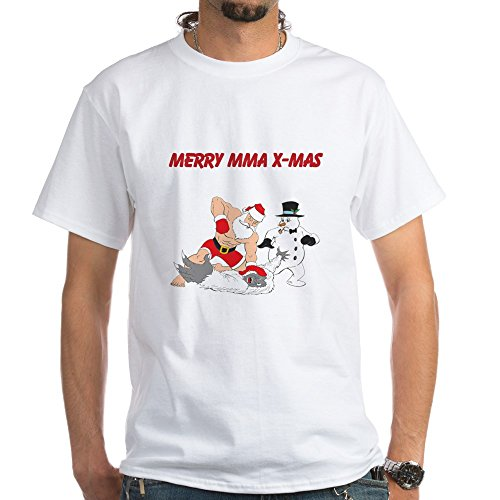 CafePress MMA Santa Cotton T Shirt