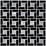 HYH 8mm Thickness Glass/Stone Blend Mesh-mounted Mosaic Tile Sheet for Kitchen Backsplash Bathroom Wall and Swimming Pool 12 In. X 12 In.(A15454-B) Lot of 5 Sheets