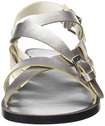 Sandals Striped silver Métallisé Femme Sandales Tantra 14aqwxx