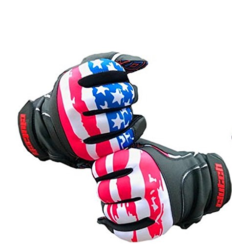 クラッチスポーツアパレルAmerican Flagバッティング手袋 B0796FD8TM XX-Large|Black Leather American Flag W/Multicolor Grip Black Leather American Flag W/Multicolor Grip XX-Large