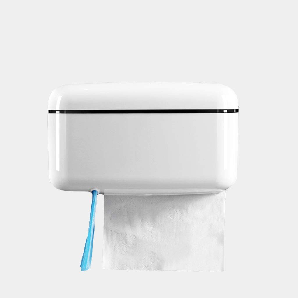 Tissue Box MAHONGQING Bathroom Wall-Mounted Sanitary Carton Toilet Free Punching Household Waterproof Toilet Paper Towel Paper Towel Rack (Color : A)