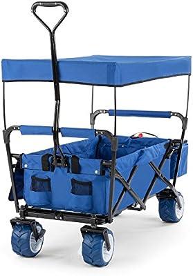 DURAMAXX The Blue Supreme Carretilla de Mano Plegable 68 kg toldo ...