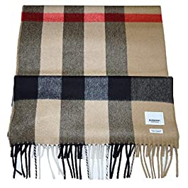 Burberry Large Check Cashmere Scarf – 8018175 – Beige