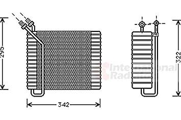 Van Wezel 5900V025 evaporador sistema de climatización: Amazon.es: Coche y moto