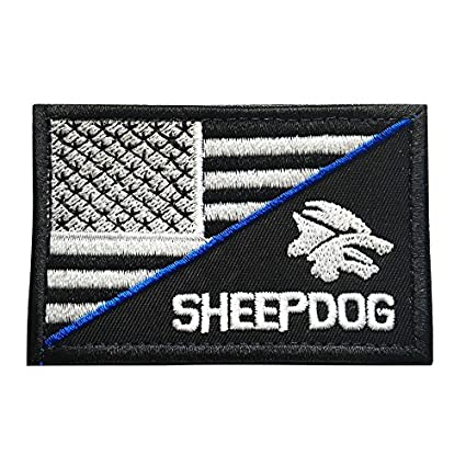 Police Law Enforcement USA Sheep Dog American Flag Tactical Morale Patch  with Hook   Loop ( 18eaa304cb4c