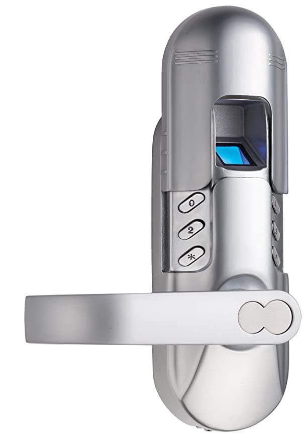 Amazon.com : Assa Abloy Digi Weatherproof Electronic Fingerprint Door Lock for Home and Office Use with Keypad 6600-98 (Satin Chrome) Left Lever Handle ...