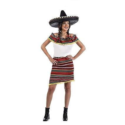 Disfraz de Mexicana a Rayas para mujer: Amazon.es: Productos ...