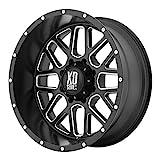xd series rims 18 - XD Series by KMC Wheels XD820 Grenade Satin Black Wheel with Milled Spokes (18x9