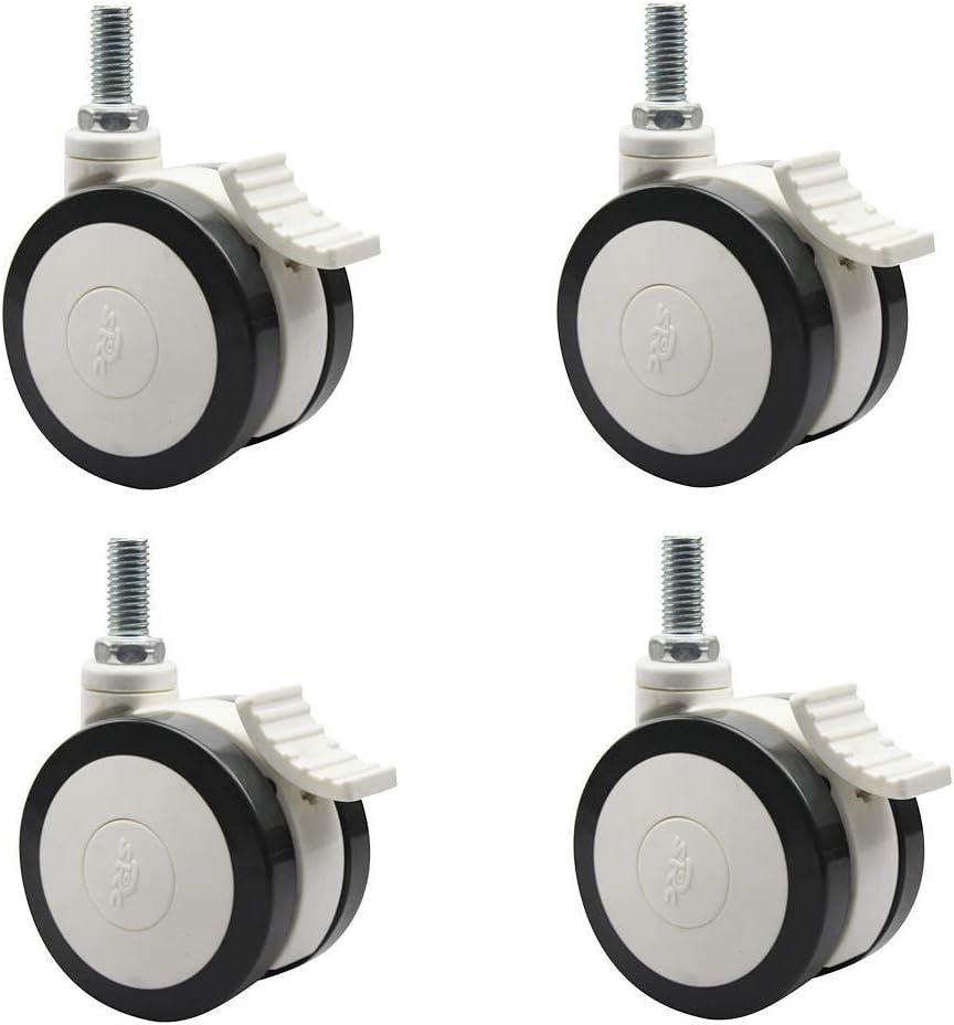 Fundamentos de mudanza de bricolaje ruedas rueda médico universal de plástico tornillo de América 3 pulgadas Con el freno de la rueda Muebles silencioso (Size : 3inch universal brake wheel)