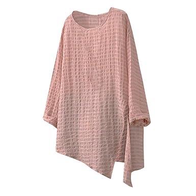 Linkay 2019 - Camisa de Manga Larga para Mujer Rosa XXX-Large ...