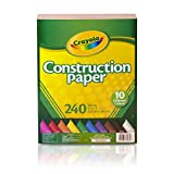 "Crayola174; Construction Paper 9"" x 12"" 240ct MULTI-COLORED"