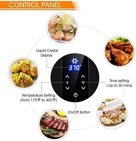 YLKCU Airfryer 1500 W 5,2 l elektrischer LCD-Touchscreen-Timer Luftfritteuse/einstellbare Temperaturregelung/weiße Luftfritteusen, Luftfritteusen