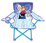 Frozen Camp Chair for Kids, Portable Camping Fold N Go Chair with Carry Bag