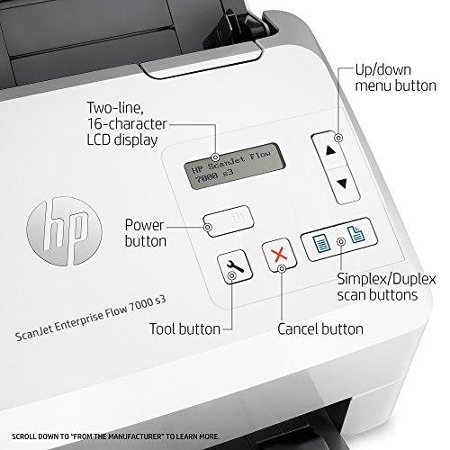 HP ScanJet Enterprise Flow 7000 s3 Sheet-feed OCR Scanner by HP (Image #3)