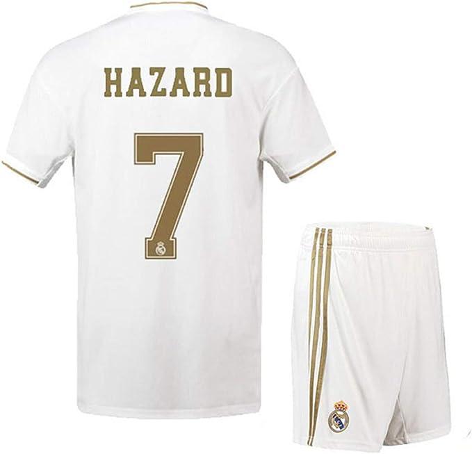 Amazon.com: Real Madrid Hazard # 7 2019-2020 - Camiseta de ...