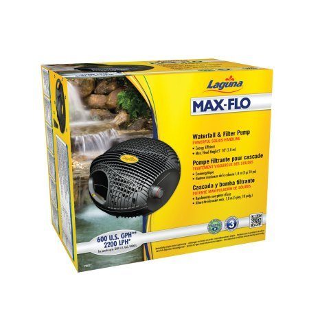 Laguna Max-Flo 600 Waterfall and Filter Pump for Ponds Up to 1200-Gallon