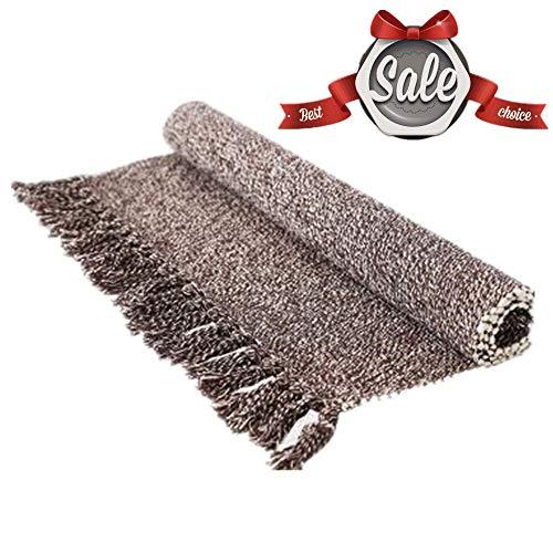 - USTIDE 2'x3' Reversible Laundry Room Rug Norbic Hand Woven Tassel Cotton Area Rug Farmhouse Doormat Kitchen/Bathroom/Porch Rug Doormat