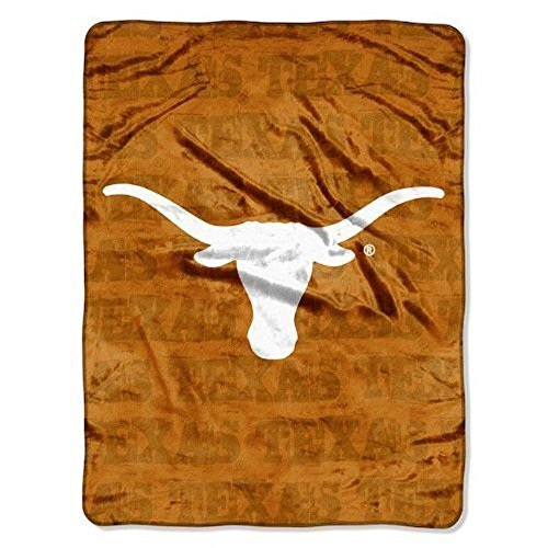 NCAA Officially Licensed Micro Raschel Plush Grunge Series Fleece Throw Blanket (Texas Longhorns) - Ncaa Snuggle Blanket