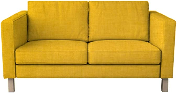 Karlstad 2 Seat Sofa Cover for The IKEA Karlstad Loveseat Slipcover  Replacement (Yellow, Polyester)