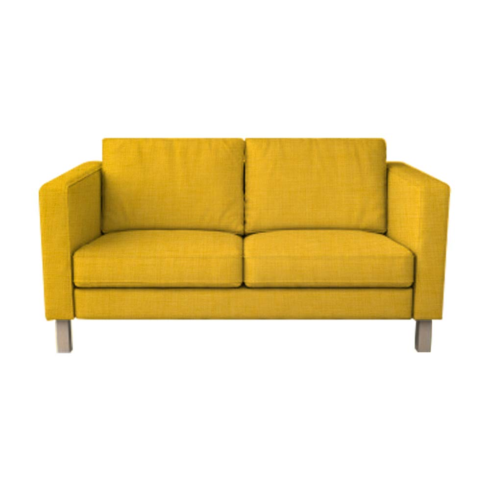 Astounding Karlstad 2 Seat Sofa Cover For The Ikea Karlstad Loveseat Slipcover Replacement Yellow Polyester Dailytribune Chair Design For Home Dailytribuneorg