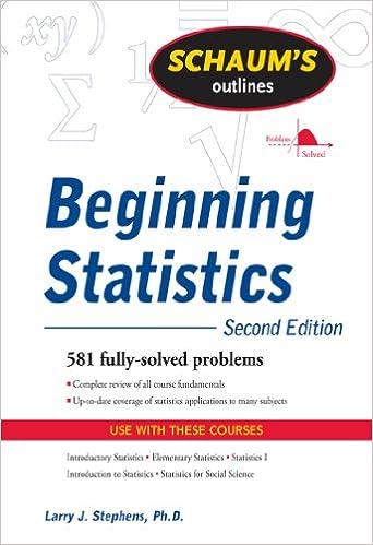 Schaums outline of beginning statistics second edition 2 larry j schaums outline of beginning statistics second edition 2 larry j stephens amazon fandeluxe Choice Image