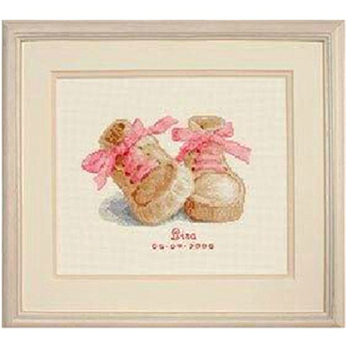Birth Sampler Friends (Kuwoolf Baby Boots Birth Sampler 14CT Counted DIY Cross Stitch Kits for Embroidery Cartoon Girl Gift Home Decor Needlework)