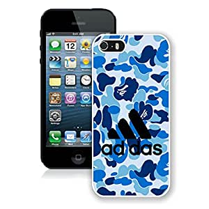New DIY Custom Design Cover Case For iPhone 5S Generation Adidas 17 White Phone Case